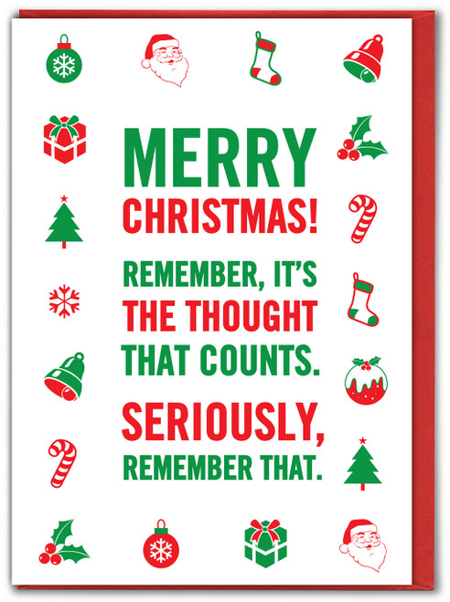 Thought That Counts Christmas Card