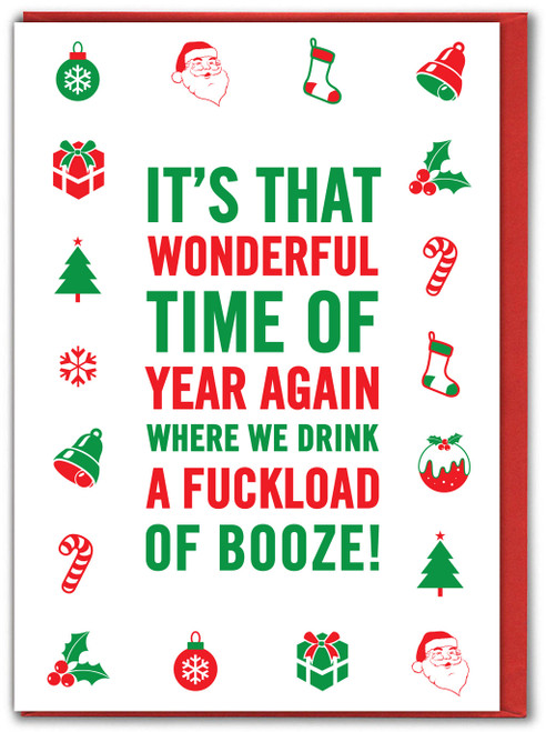 Most Wonderful Time Of The Year Xmas Card