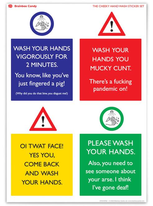 Water Resistant Rude Sticker (Set 1)