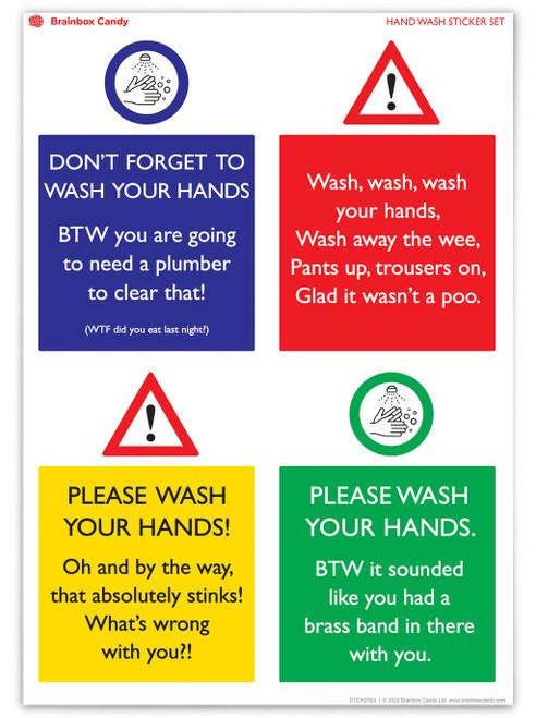 Water Resistant Rude Sticker (Set 2)