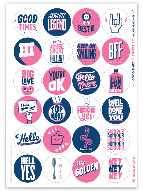 Set of 24 Stickers By Ant Gardner