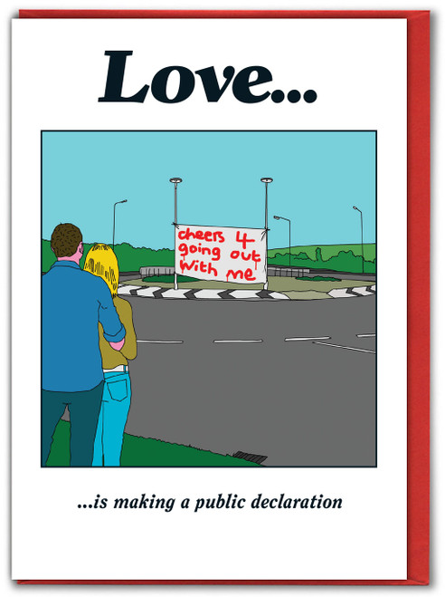 Love Roundabout Valentines Card