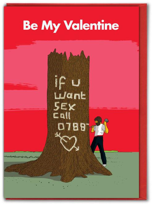 Tree Carve Valentines Card