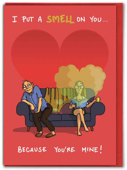 I Put A Smell On You Funny Valentines Card For Her