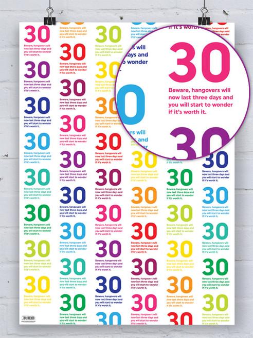 30th Birthday Quotish Gift Wrap