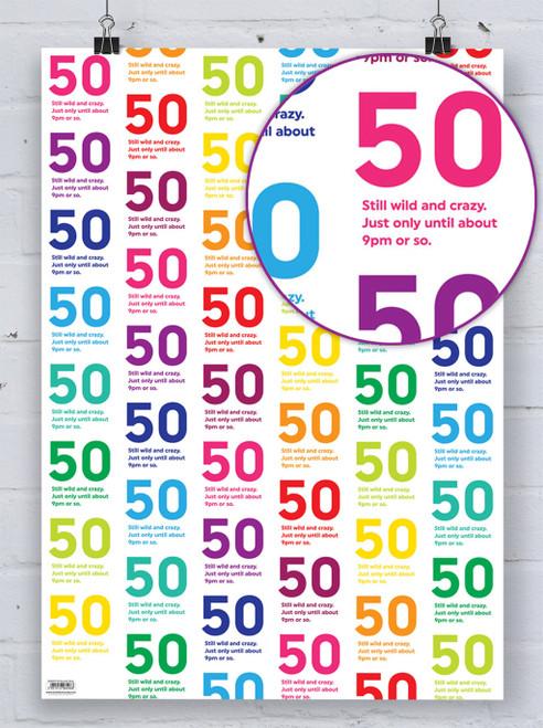 50th Birthday Quotish Gift Wrap