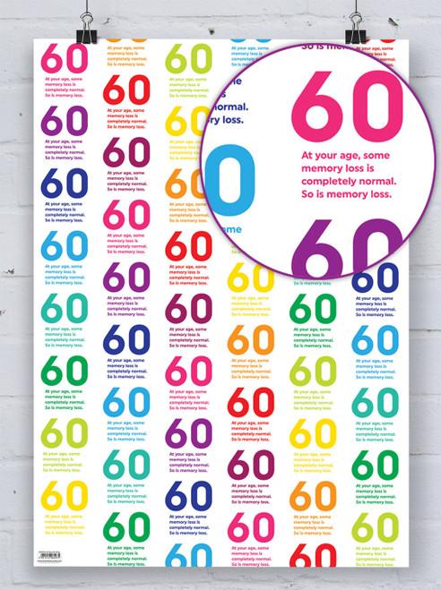 60th Birthday Quotish Gift Wrap