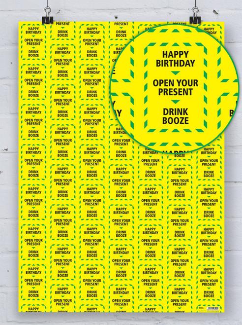 Drink Booze Alert Gift Wrap