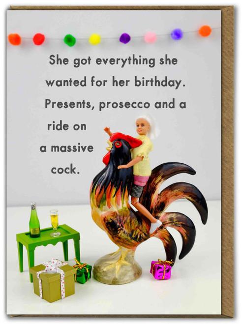 Presents, Prosecco And A Massive Cock