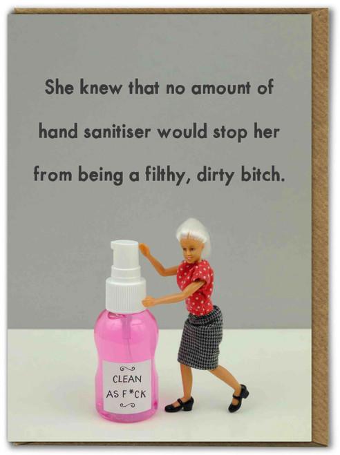 Hand Sanitiser Dirty Bitch