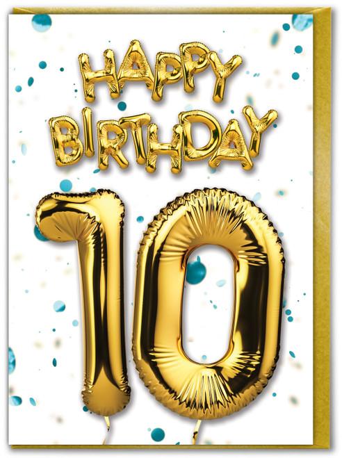 10th Birthday Blue