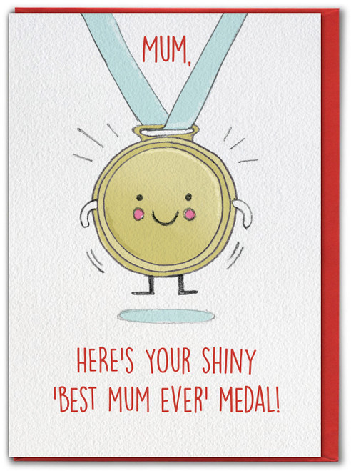 Mothers Day Best Mum Ever Medal