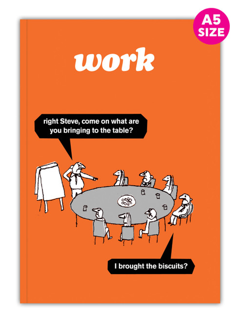 Work Biscuits A5 Notebook / Notepad