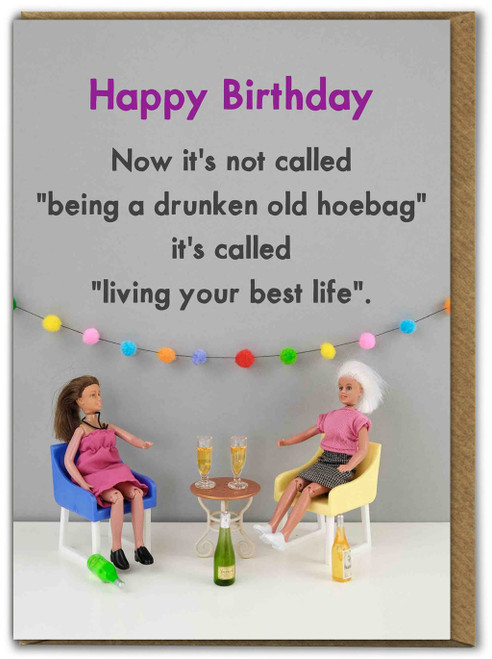Living Your Best Life Birthday Card