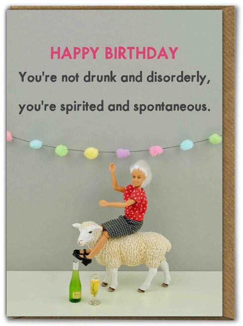 Spirited And Spontaneous Birthday Card