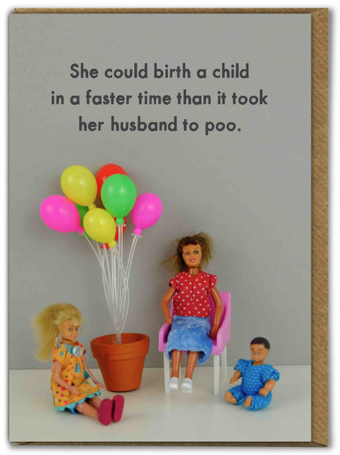 Husband Poo Mothers Day Card