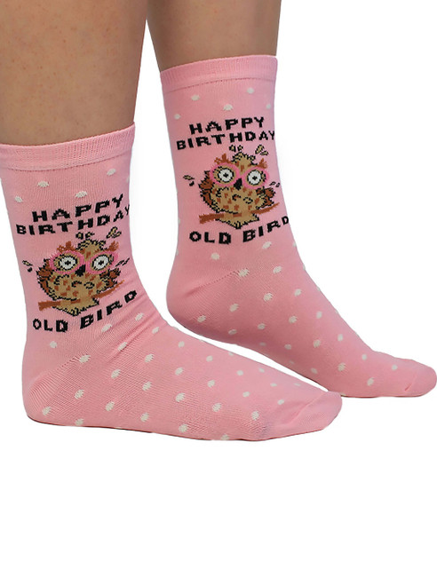 Happy Birthday Old Bird Socks