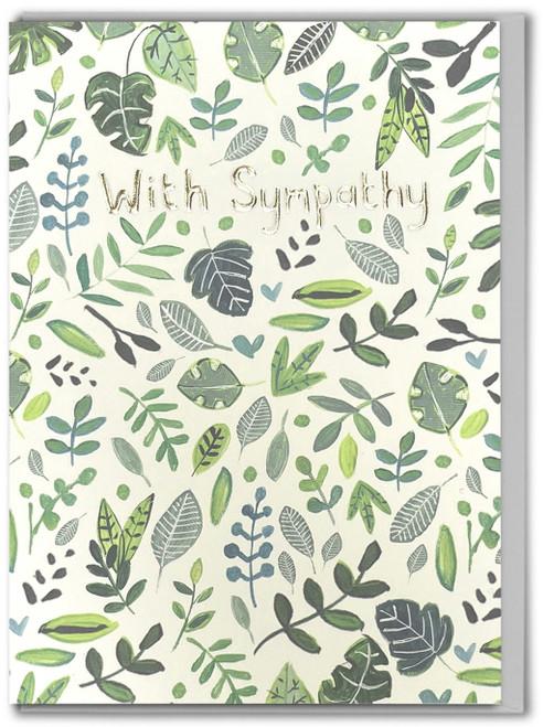 With Sympathy Botanical Card