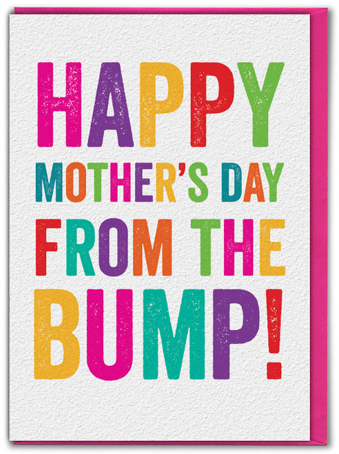Happy Mothers Day From The Bump Mum To Be Card