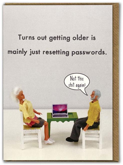 Getting Old Birthday Card