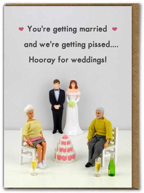 Hooray For Weddings Greetings Card