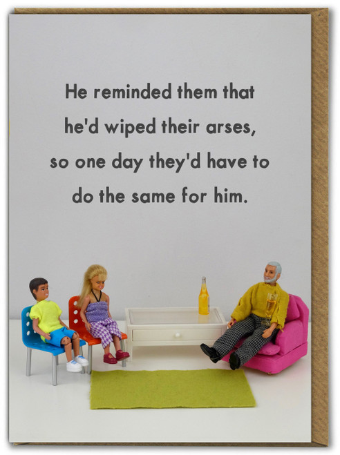 Arsewipe Father's Day Card