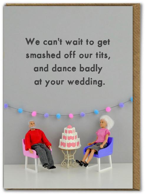 Drunk Wedding Greetings Card