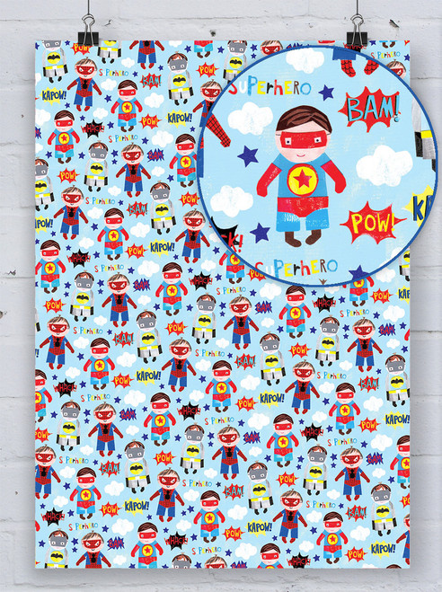 Superheroes Gift Wrap