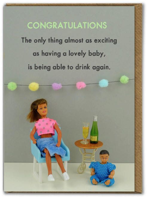 Drink Again New Baby Card