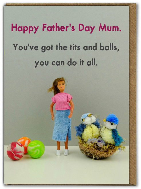 Tits and Balls Father's Day Card