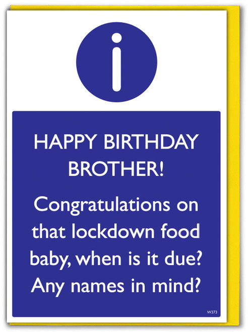 Brother Lockdown Food Baby