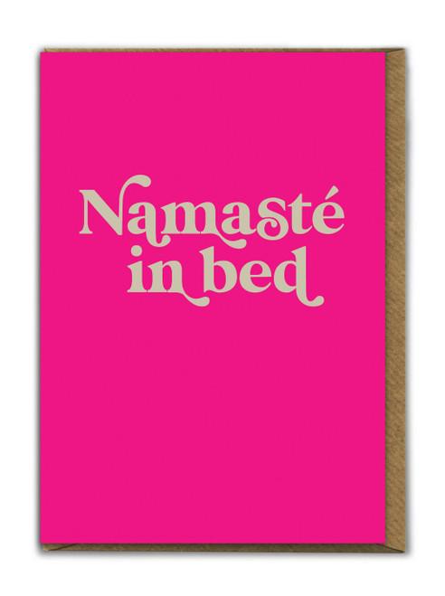 Nameste In Bed Card