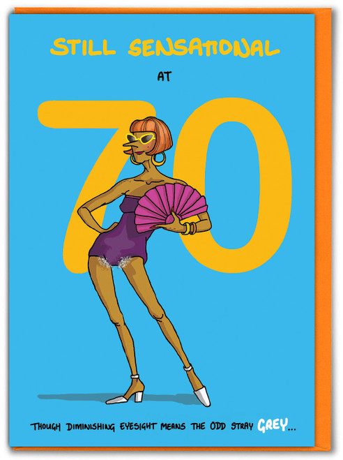 Sensational at 70th Birthday Card For Her