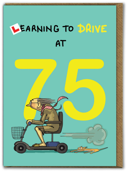 Learning To Drive 75th Birthday Card