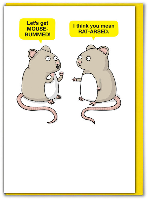 Mouse Bummed Birthday Card