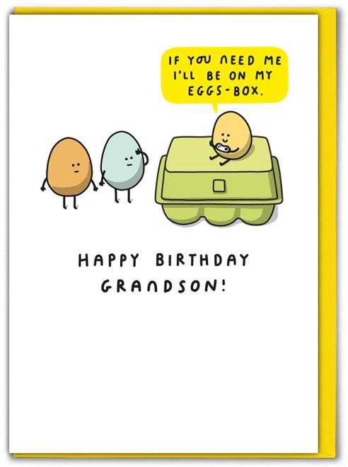 Eggs Box Grandson Birthday Card