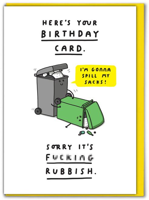 Sorry It's Rubbish Birthday Card