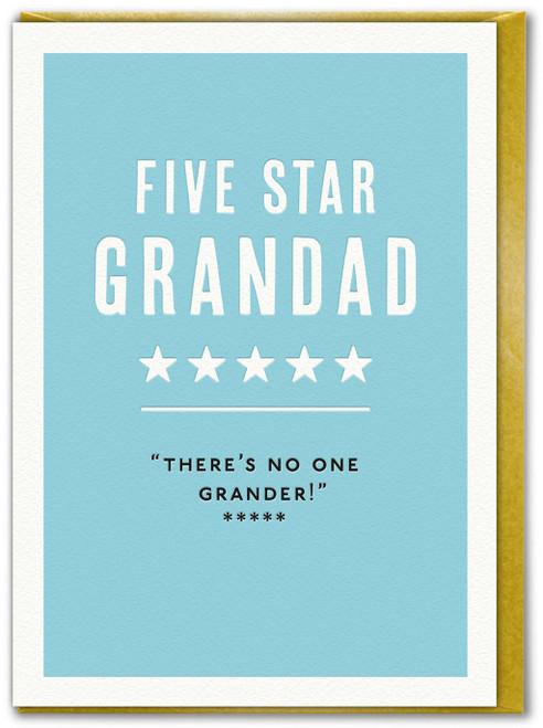 Five Star Grandad Birthday Card