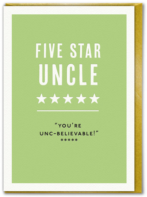 Five Star Uncle Birthday Card