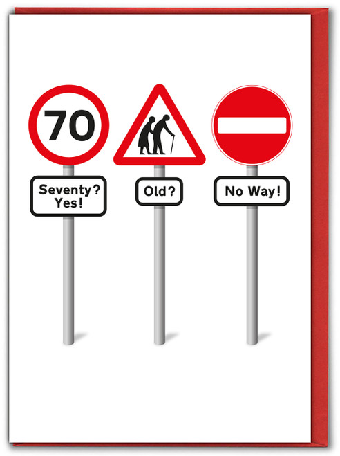 Seventy Yes Birthday Card