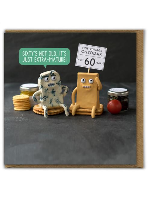 Extra Mature Sixty  Birthday Card