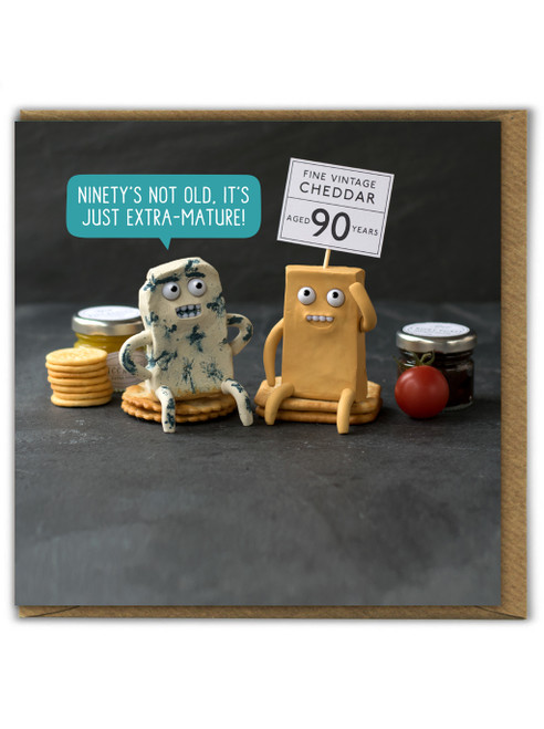 Extra Mature Ninety Birthday Card