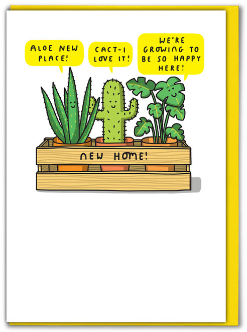 New House Plants New Home Card