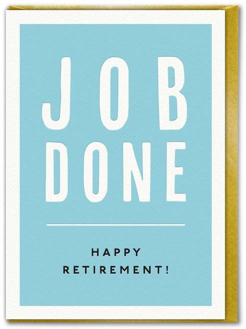 Job Done Retirement Card