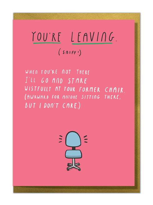Leaving Chair Greeting Card