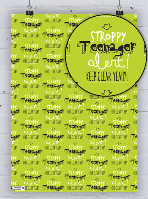 Stroppy Teenager Gift Wrap