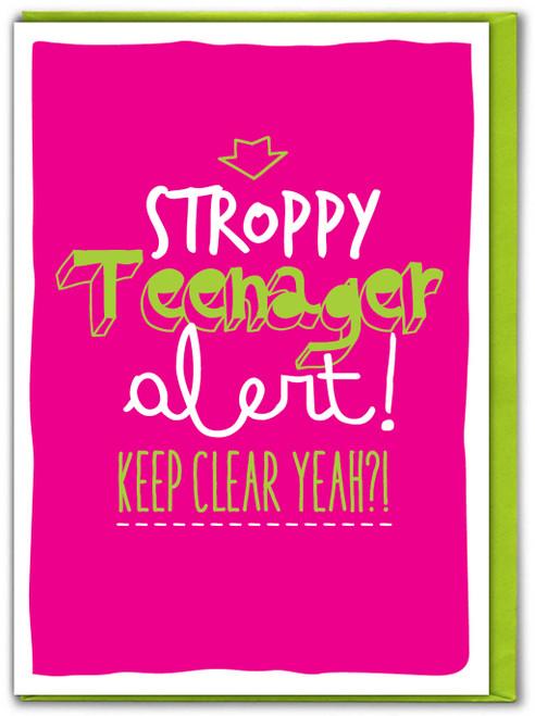Stroppy Teenager Pink Birthday Card