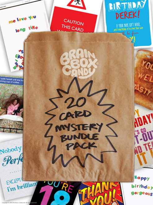 20 Card Mystery Bundle Pack - 20 Greeting Cards - Designs - Various Occasions