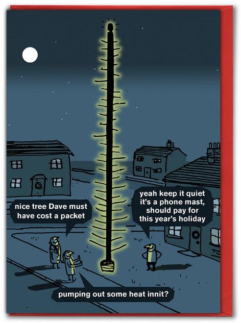 Phone Mast Christmas Card