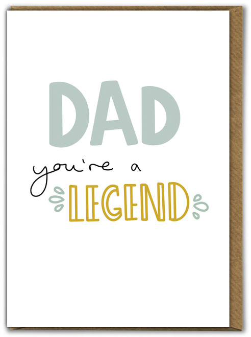 Dad You're A Legend Father's Day Card